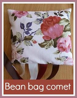Simple sewn bean bag comet toy