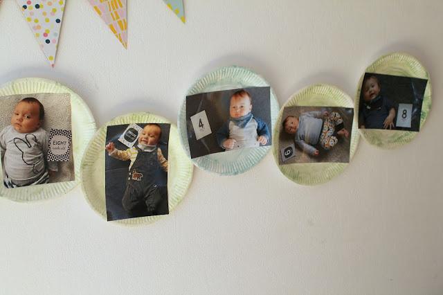 Fotogirlande 1 Geburtstag Raupe Nimmersatt Jules kleines Freudenhaus