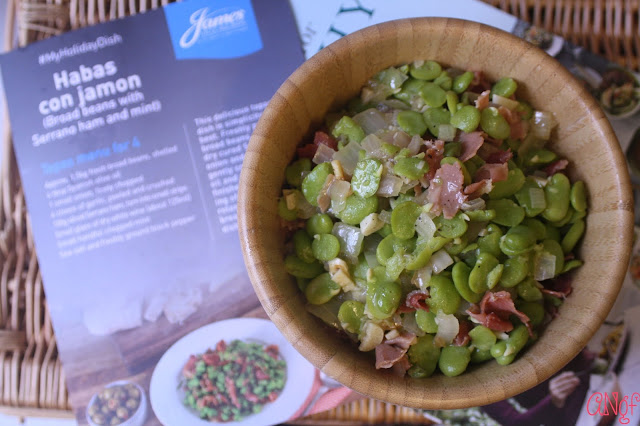 Habas con Jamon or Broad Beans with Serrano Ham and Mint from Jo Pratt | Anyonita-nibbles.co.uk