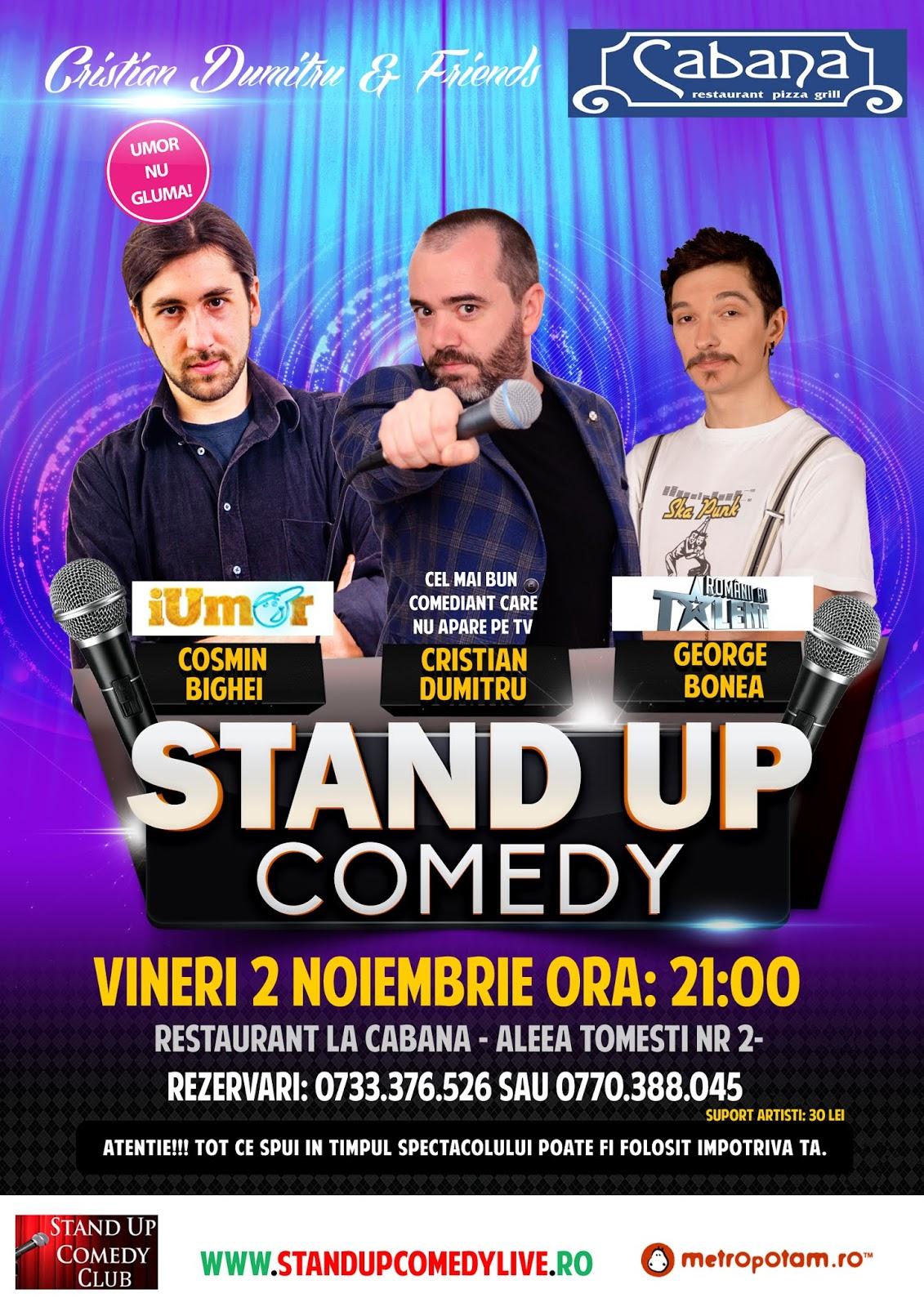 Stand-Up Comedy Bucuresti Vineri 2 Noiembrie