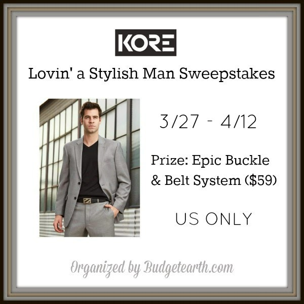 Enter the Lovin' A Stylish Man Giveaway. Ends 4/12