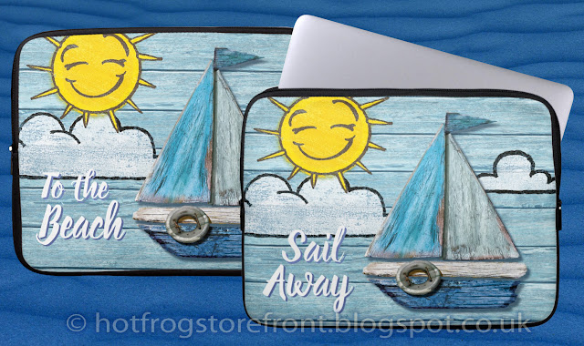 Photograph of Laptop covers in Driftwood Beach design