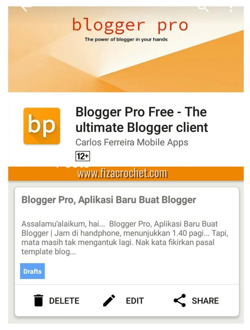 Blogger Pro, Aplikasi Baru Untuk Update Blog