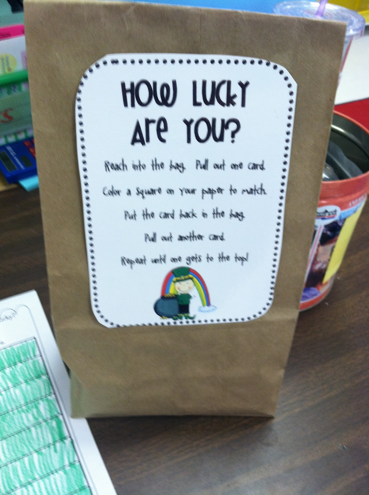 First Grade Fabulous Fish How Lucky Are You Probability Game