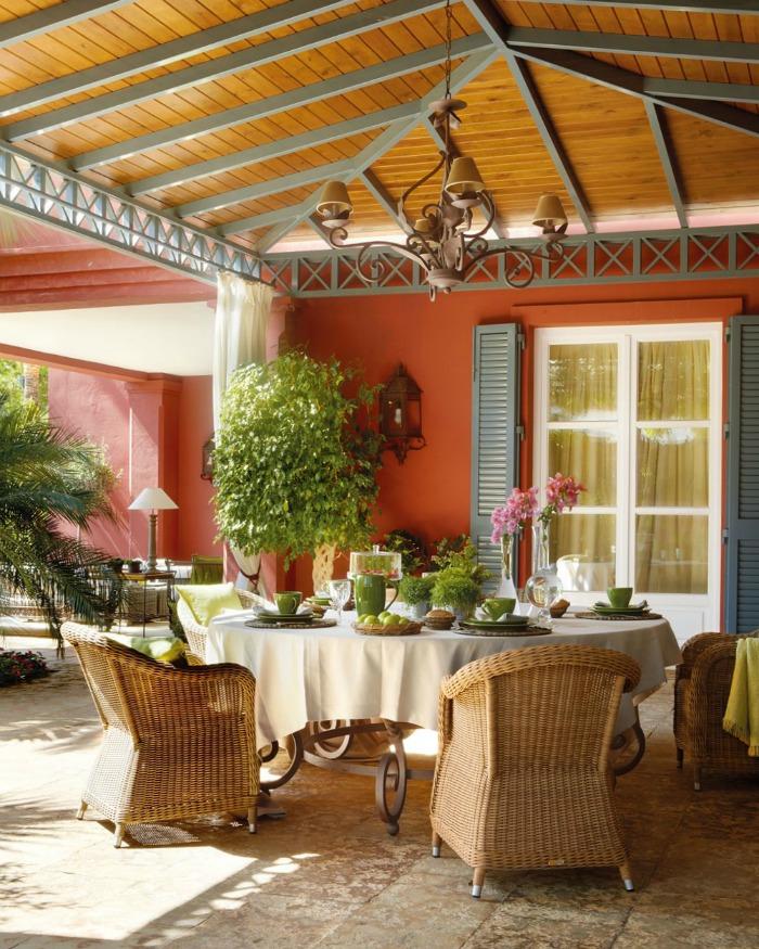 15 comedores exteriores para jard n o terraza guia de jardin for Mesa porche