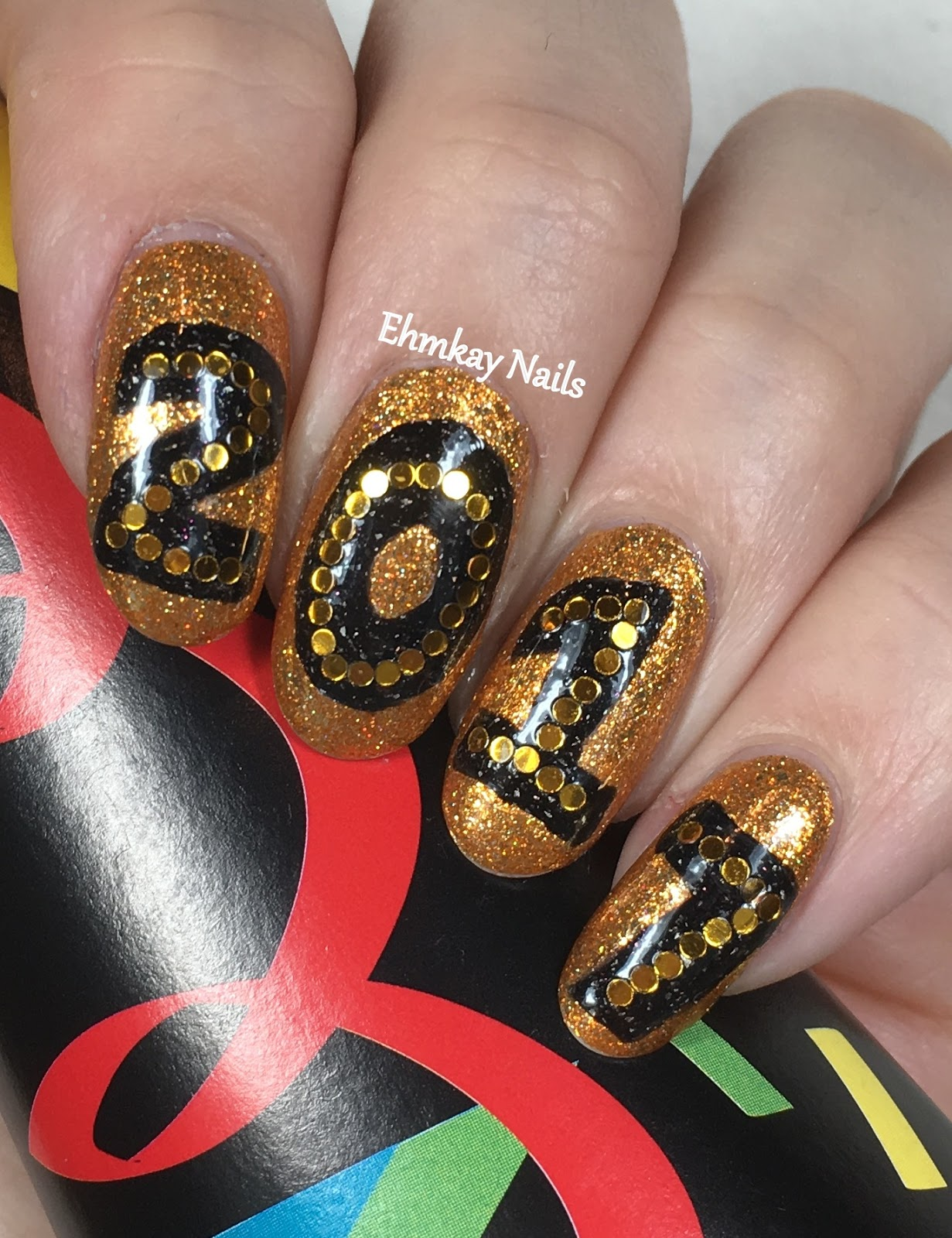 Ehmkay Nails New Year S Eve Nail Art With Kbshimmer Bling: Ehmkay Nails: Welcome To 2017 Nail Art