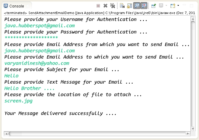 How to attach a file to a Email in Java using Java Mail API
