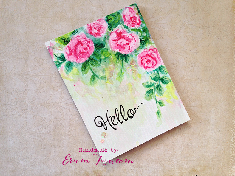 watercolor altenew vintage roses