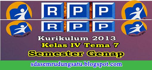 RPP Kelas 4 SD/MI Tema 7 K13 Edisi Revisi Semester 2