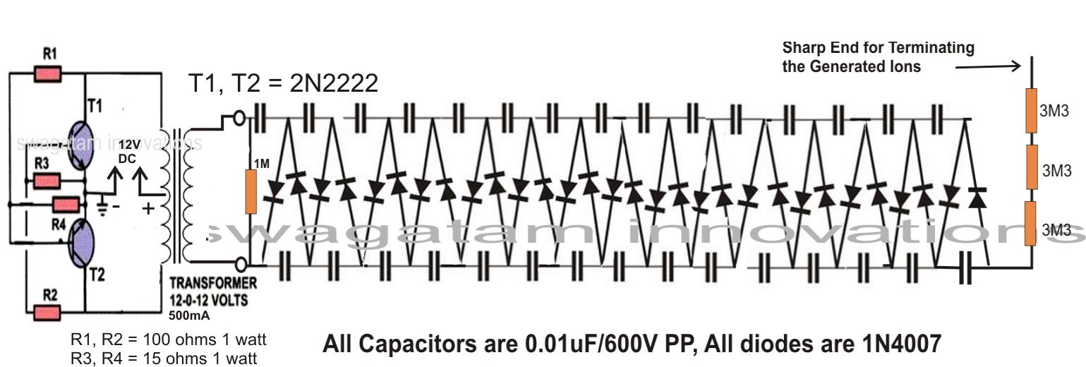 Make this Car Air Ionizer Circuit