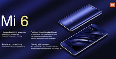 Xiaomi Mi 6 memakai lensa selesaiolusi 8 MP