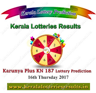 Kerala Lottery Tomorrow Guessing Number 16-11-2017 Karunya Plus KN-187 www.keralalotteriesresults.in
