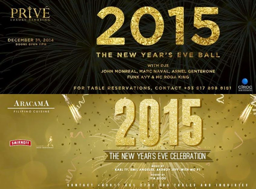 New Year Countdown at the Bonifacio Global City (BGC), Taguig City Prive and Aracama