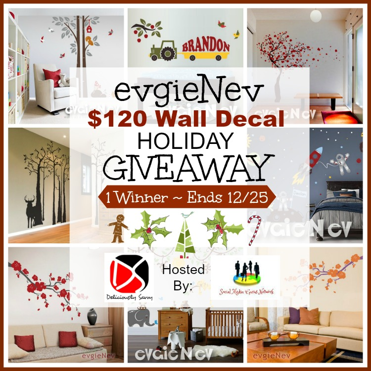 EvgieNev $120 Wall Decal Giveaway