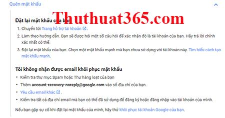 Hướng dẫn thay đổi, tìm lại mật khẩu gmail, tài khoản google-1