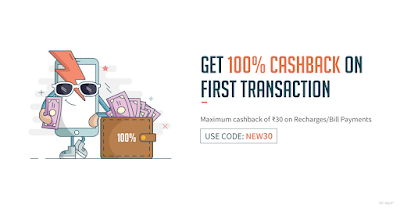 Freecharge loot- Get 100% Cash Back On First Transactions