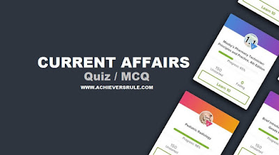 Daily Current Affairs Quiz - 8th May 2018