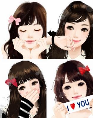 Gambar De Animasi Kartun Wanita Cantik Khas Korea Kacamata 1 Sapawarga
