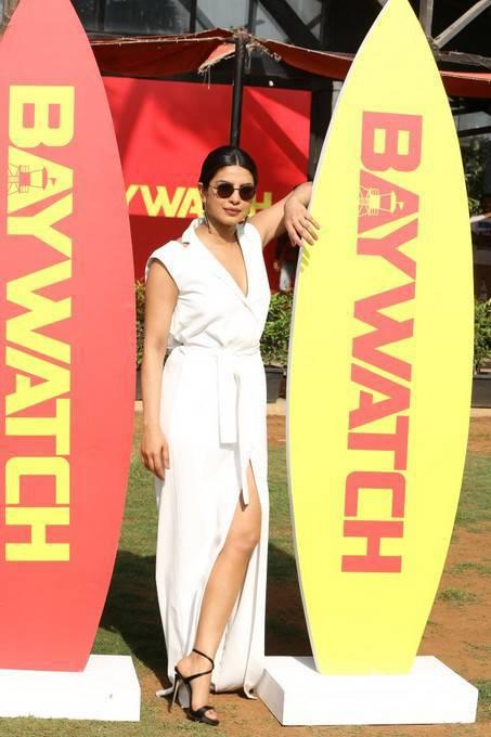 Baywatch Official Trailer Launch Priyanka Chopra Dwayne Johnson