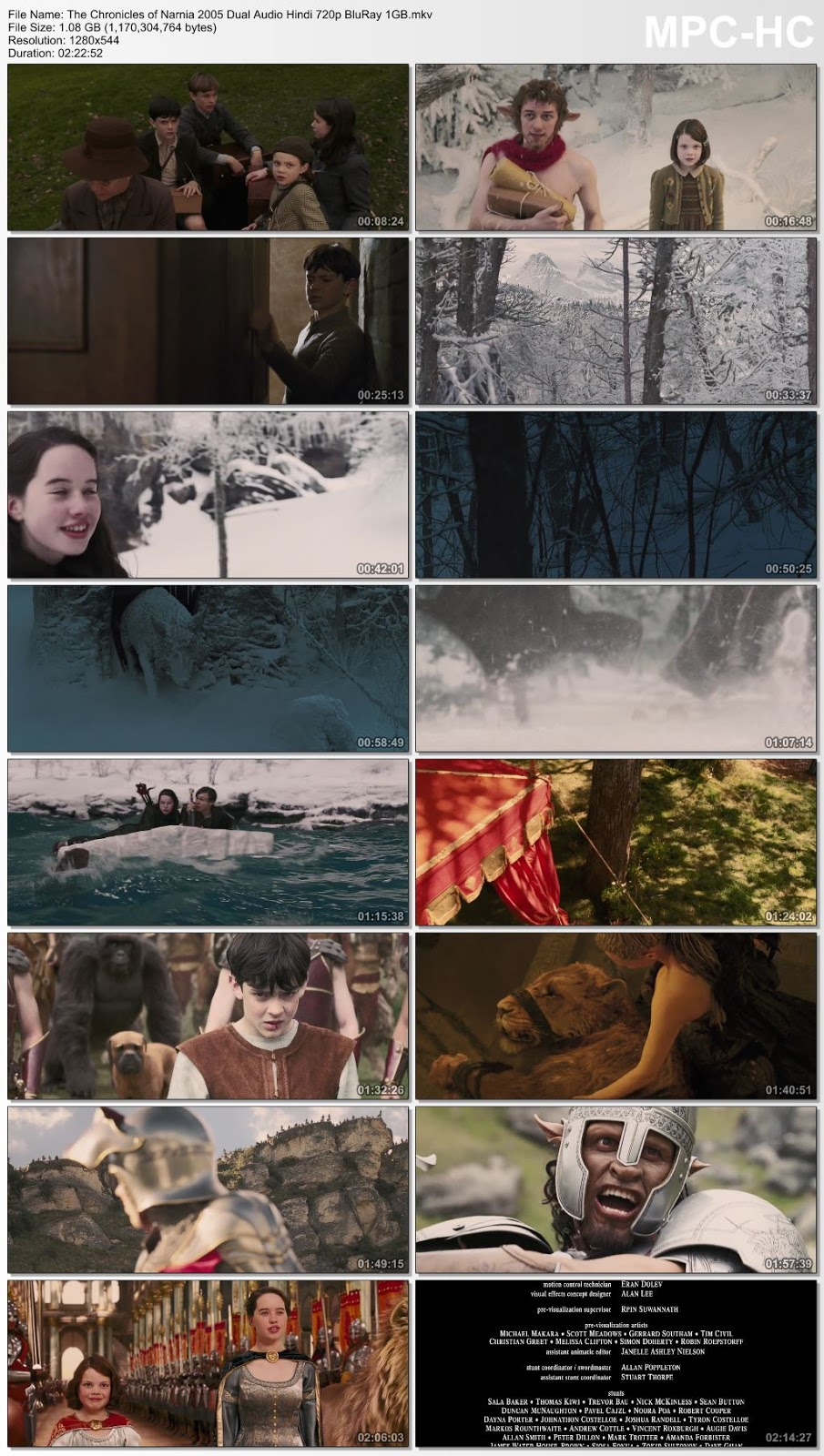 The Chronicles of Narnia 2005 Dual Audio Hindi 480p BluRay 400MB Desirehub