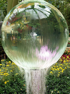 water globe fountain