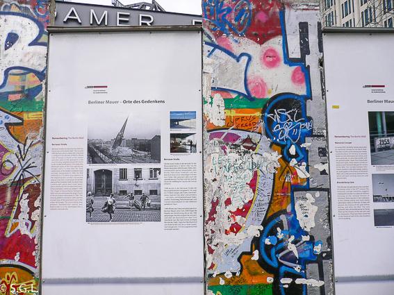 Trozo muro de Berlin en Postdammer Platz