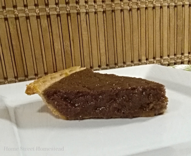 Chocolate Brown Sugar Pie slice