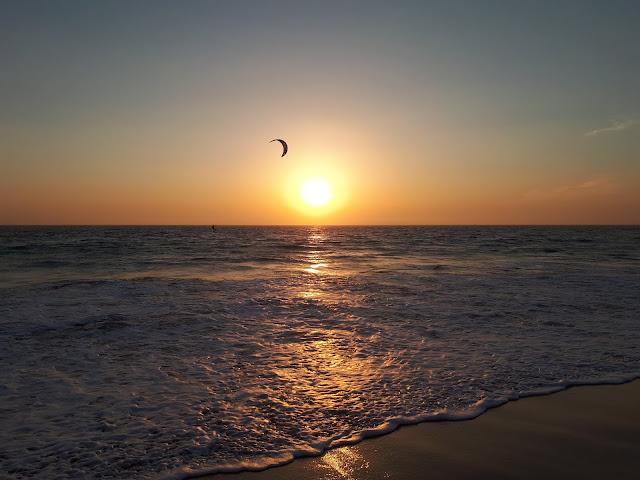 Puesta de Sol en la playa de los Lances