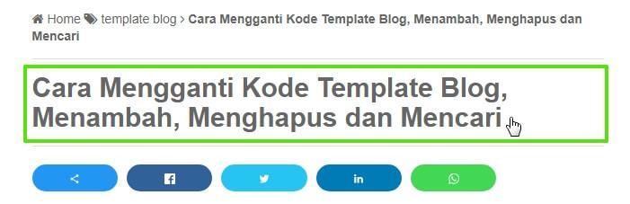 Kode Template Blog