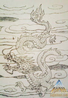 sketsa relief  gambar naga untuk batu alam paras jogja/ batu paras putih