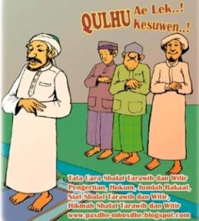 bacaan niat shalat tarawih dan witir