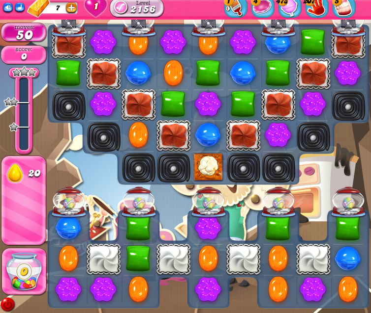 Candy Crush Saga level 2156