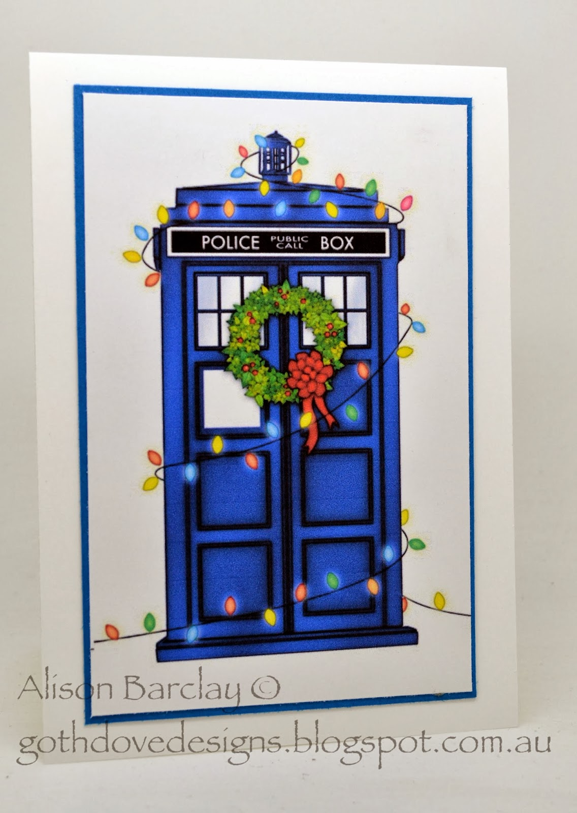 Doctor Who Christmas Cards.Gothdove Designs Stampin Up Australia Stampin Up Australia