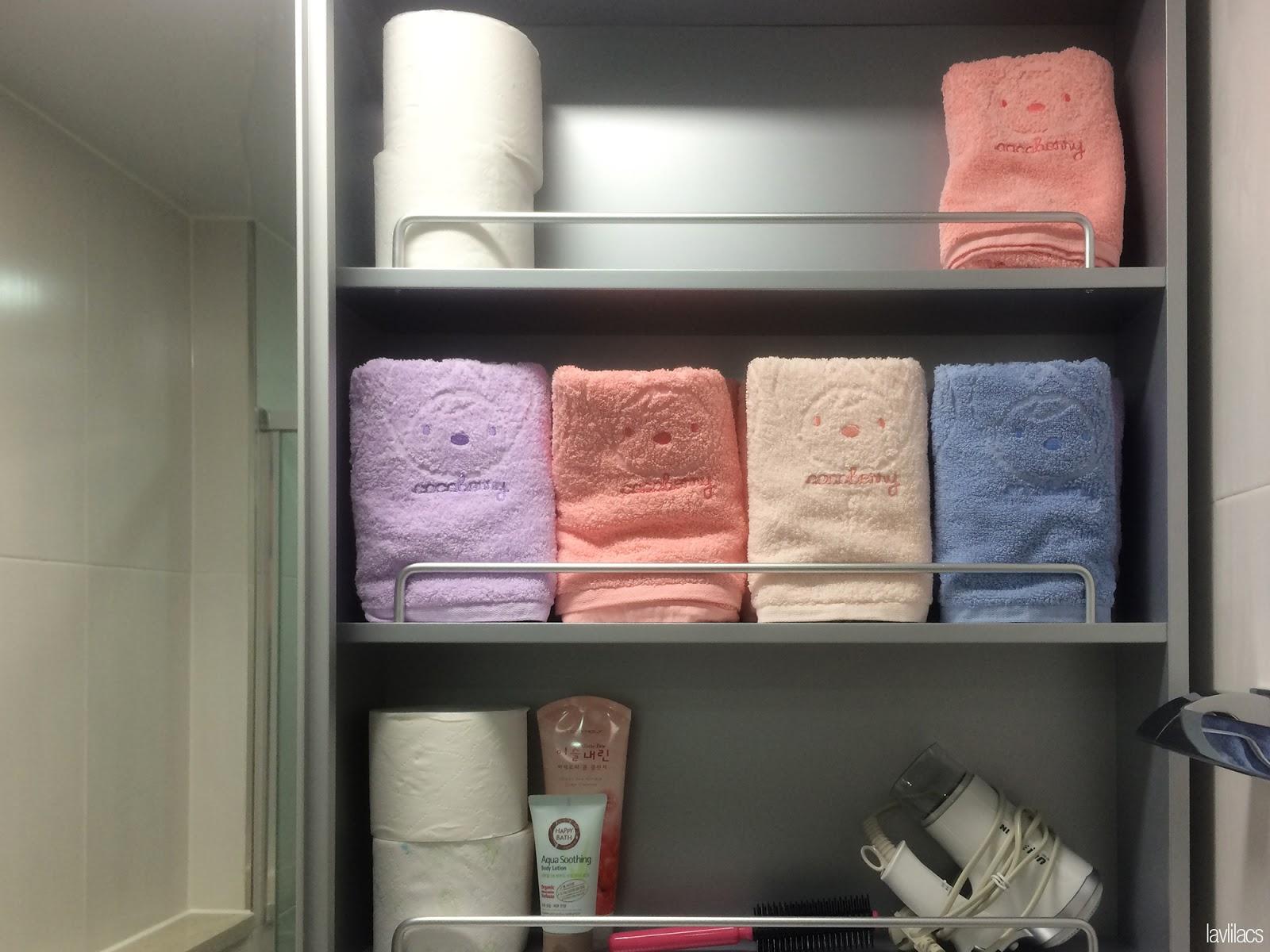 Seoul, Korea - Summer Study Abroad 2014 - Busan studio bathroom cabinets via AirBnB