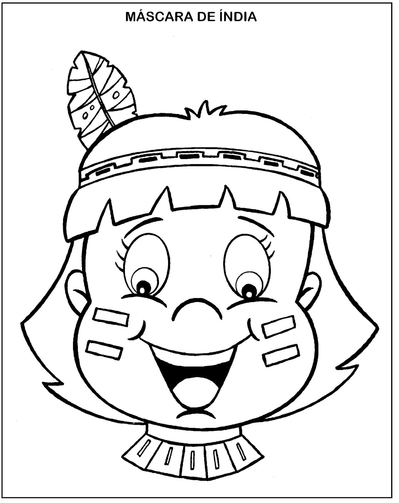 desenhos para colorir e atividades de Índio sÓ escola