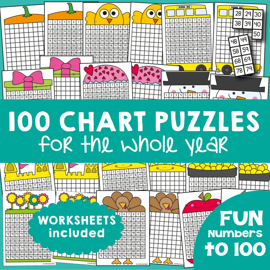 100 Chart Activities for the Year! | From the Pond