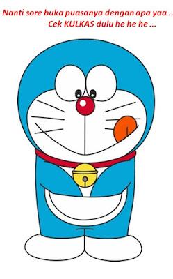 Gambar Doraemon Cek Kulkas Buat Buka Puasa Ramadan Lucu