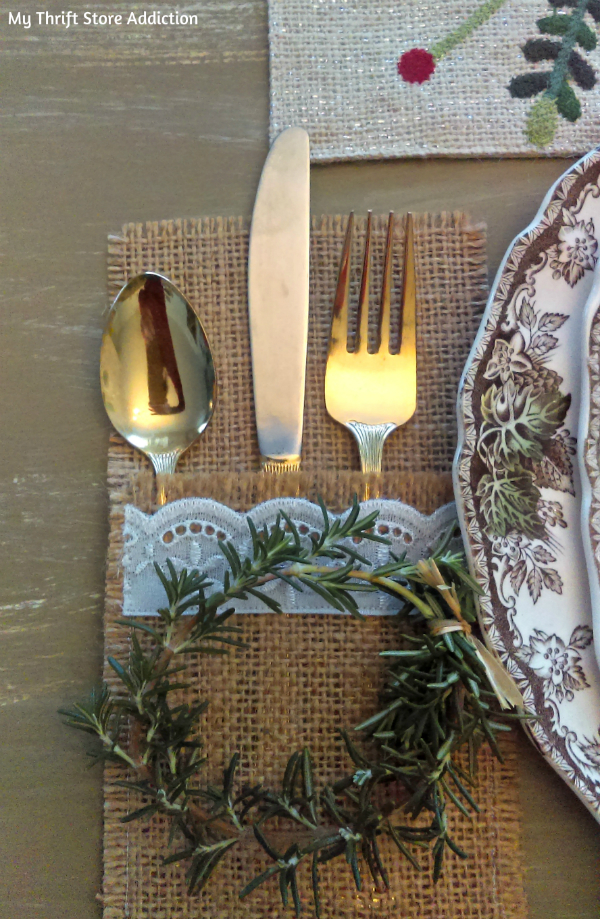 rosemary evergreen vintage tablescape