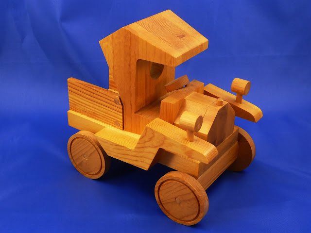 Right Front View - Wooden Toy Truck - Norm Marshall Model T Pickup Truck