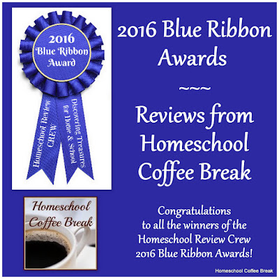 2016 Blue Ribbon Awards - Reviews from Homeschool Coffee Break @ kympossibleblog.blogspot.com - Crew members voted on their favorites from all the wonderful products we reviewed in 2016. Here are the award winners as voted on by the entire Crew, and how we wish we could give an award to every product we reviewed!