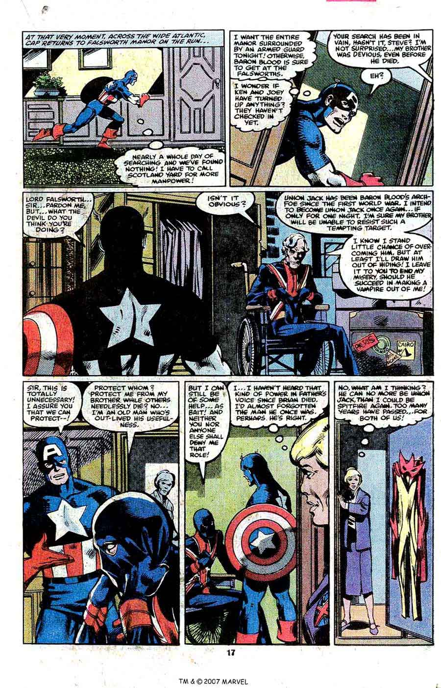 Captain America #254 marvel 1980s bronze age comic book page art by John Byrne