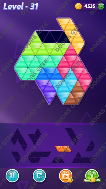Block! Triangle Puzzle Proficient Level 31 Solution, Cheats, Walkthrough for Android, iPhone, iPad and iPod