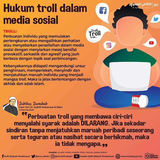 Hukum Troll Dalam Media Sosial