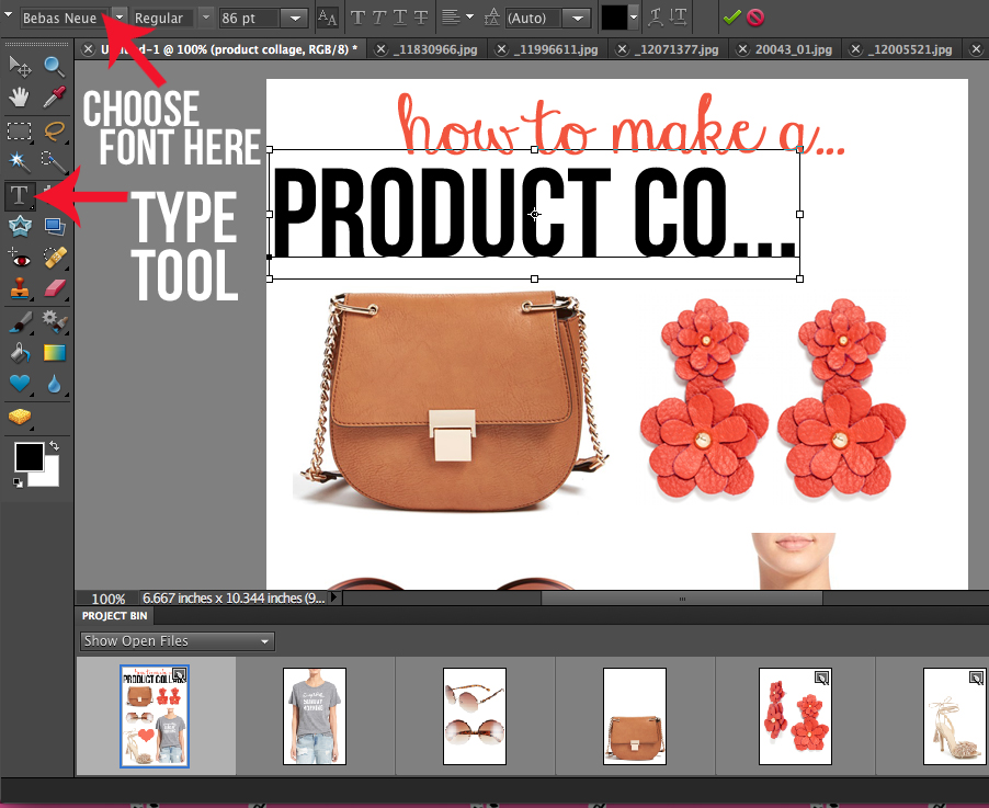 How to Make a Product Collage – Southern Curls & Pearls