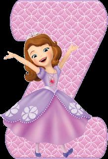 Alfabeto Rosa con la Princesa Sofía Bailando.