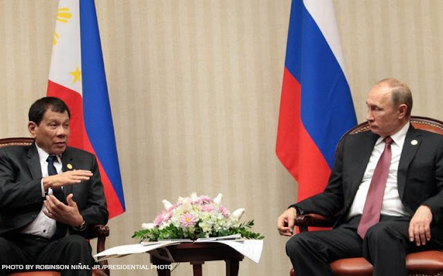 PUTIN TO DUTERTE: IF YOU CANNOT BUY ARMS ANYWHERE, GO TO ME. YOU BUY ONE THEN TAKE ONE FOR FREE