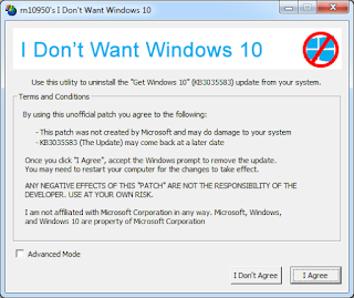 I Don't Want Windows 10