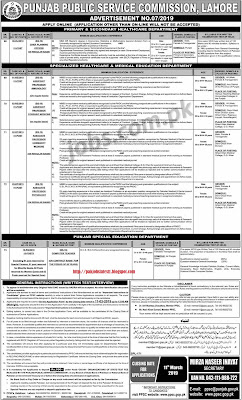 PPSC Teaching and Professional level Jobs