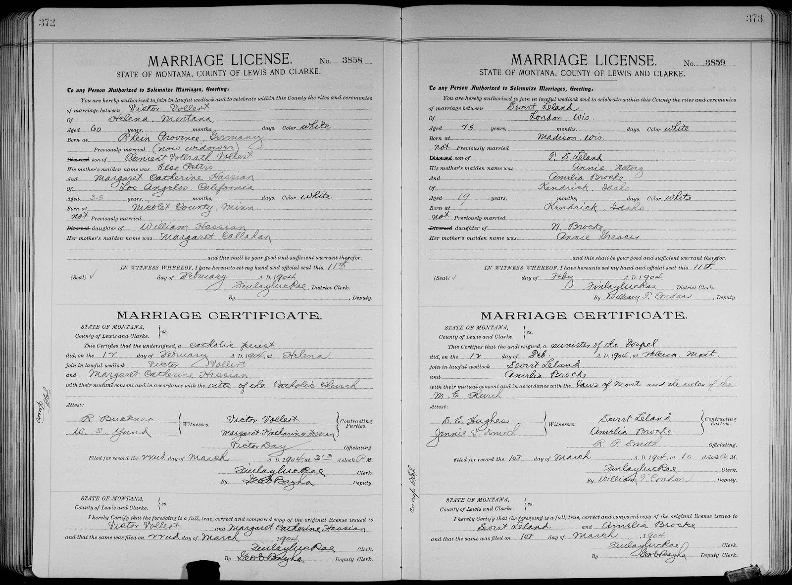 Genea Musings Treasure Chest Tuesday 1904 Marriage License
