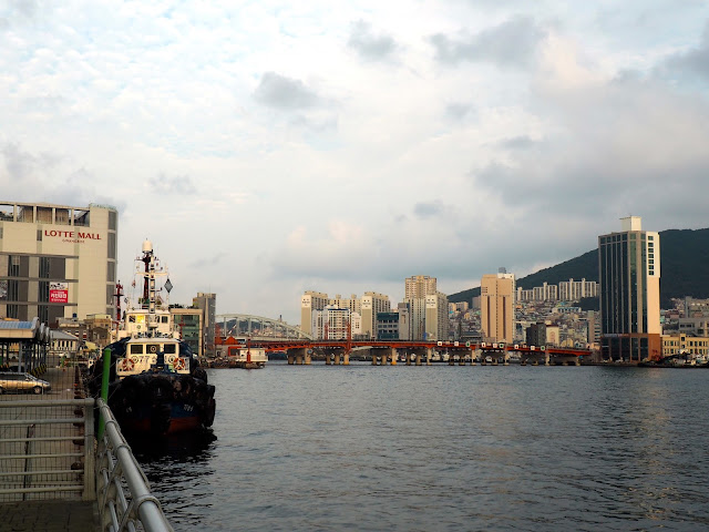 Harbour view at Nampo-dong, Busan, South Korea